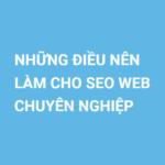 Infographic Những Điều Nên Làm Để SEO Web Chuyên Nghiệp